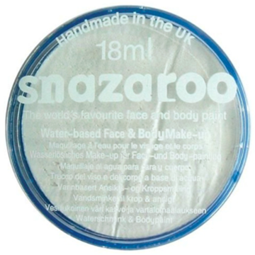 Obrázek Barva na obličej Snazaroo - třpytivá bílá - Sparkle white - 18 ml