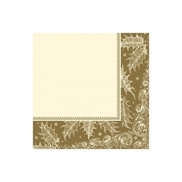 Obrázek Papírové ubrousky sváteční zlaté cream 20 ks