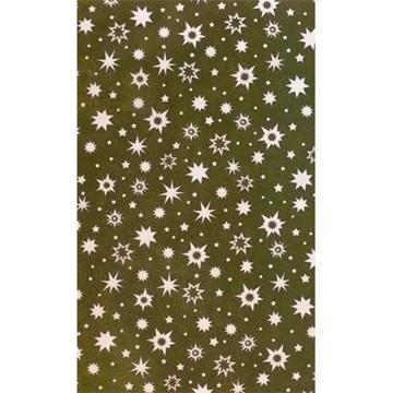 Obrázek Balící papír Vánoční - zlatý  a smetanové hvězdy - 10 m