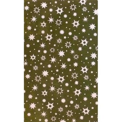Obrázek z Balící papír Vánoční - zlatý  a smetanové hvězdy - 10 m
