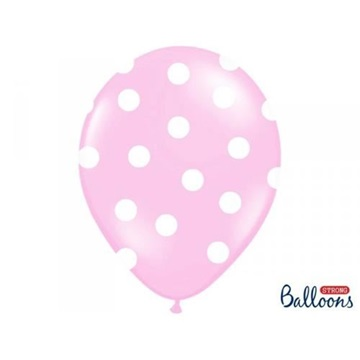 Obrázek Latexový balonek s puntíky světle růžový 30 cm