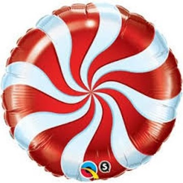 Obrázek Foliový balonek bonbón červený 46 cm