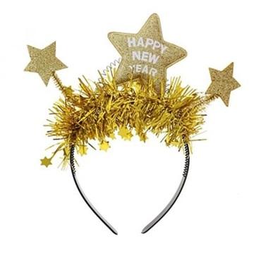Obrázek Čelenka Happy New Year - zlatá