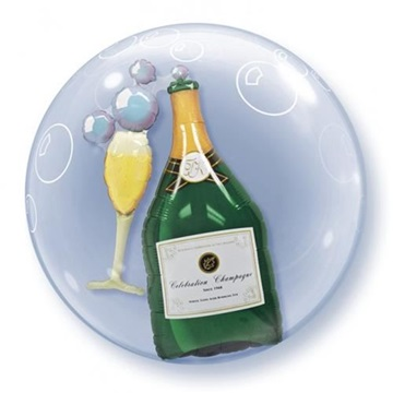 Obrázek Fóliová bublina Šampaňské 3D