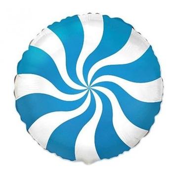 Obrázek Foliový balonek bonbón modrý 46 cm
