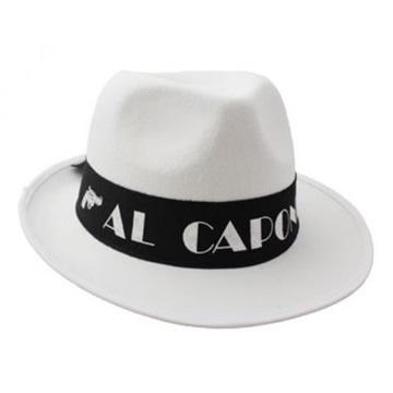 Obrázek Klobouk Al Capone bílý