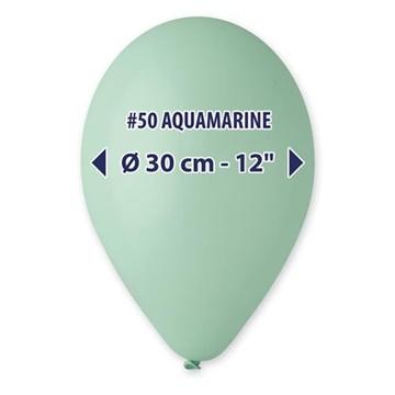 Obrázek Balonky 30 cm - světle tyrkysová 100 ks