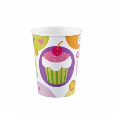 Obrázek Papírové party kelímky Muffin 8 ks