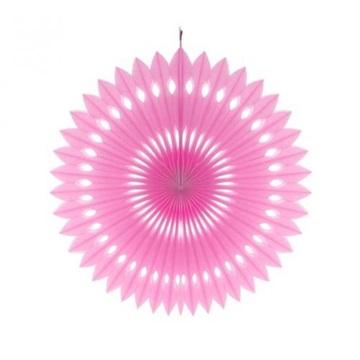 Obrázek Dekorační rozeta růžová - 40 cm