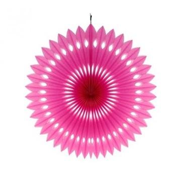 Obrázek Dekorační rozeta tmavě růžová (fuchsia) - 40 cm