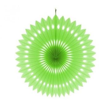 Obrázek Dekorační rozeta limetkově zelená - 40 cm