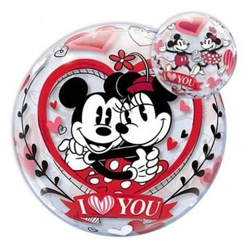 Obrázek Fóliová bublina Mickey a Minnie I Love You 56 cm