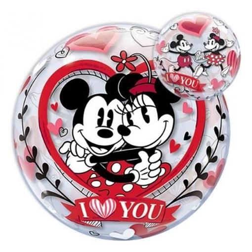 Obrázek z Fóliová bublina Mickey a Minnie I Love You 56 cm