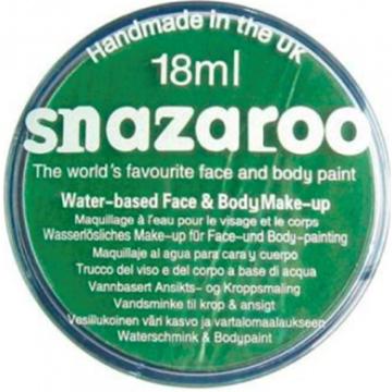 Obrázek Barva na obličej Snazaroo - zelená - Bright Green 18 ml