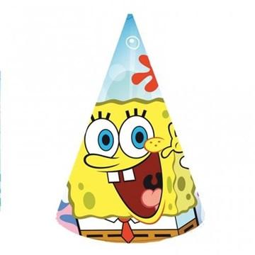 Obrázek Sponge Bob party čepičky 6 ks