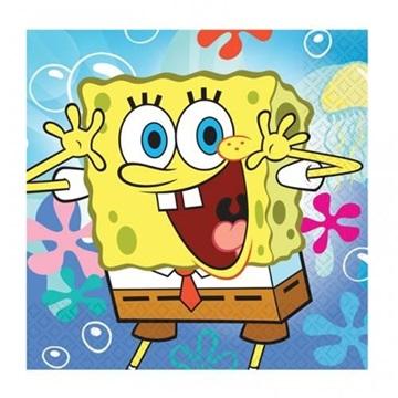 Obrázek Papírové party ubrousky Sponge Bob 20 ks