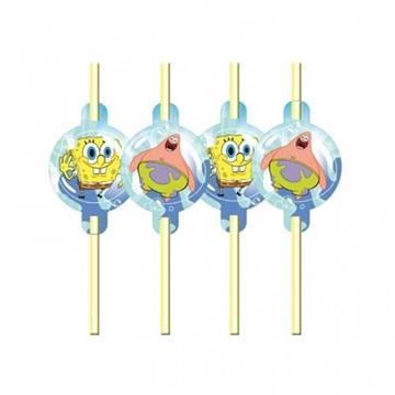 Obrázek Party brčka Sponge Bob 8 ks