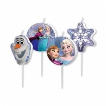 Obrázek Dortové svíčky Frozen 4 ks