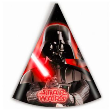Obrázek Party papírové čepičky Star Wars 6 ks