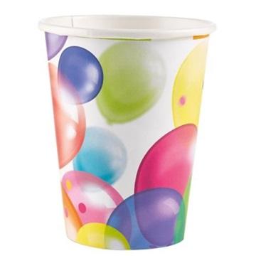 Obrázek Papírové kelímky s balonky 8 ks