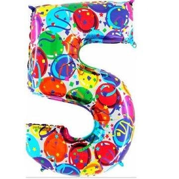 Obrázek Foliová číslice - balonková 5