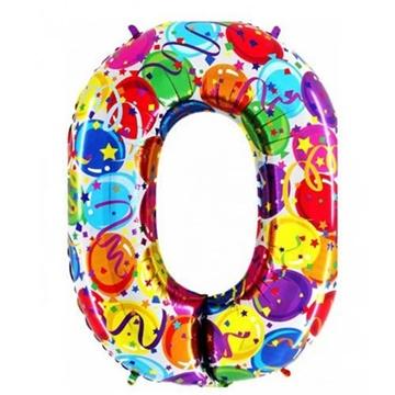 Obrázek Foliová číslice - balonková 0