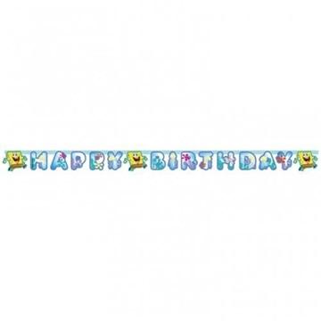 Obrázek Party nápis Sponge Bob Happy Birthday 180 cm