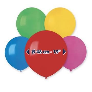 Obrázek Balonky 48 cm pastelový mix - 50 ks