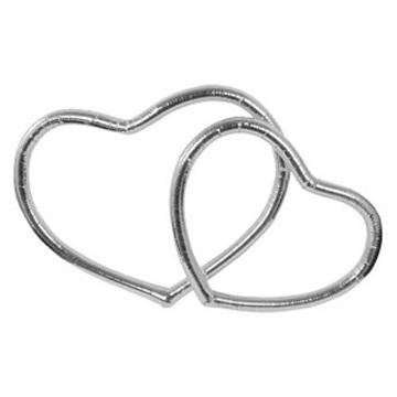 Obrázek Metalické srdce stříbrné
