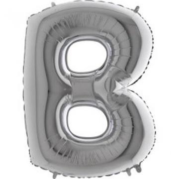 Obrázek Foliové písmeno B stříbrné 102 cm