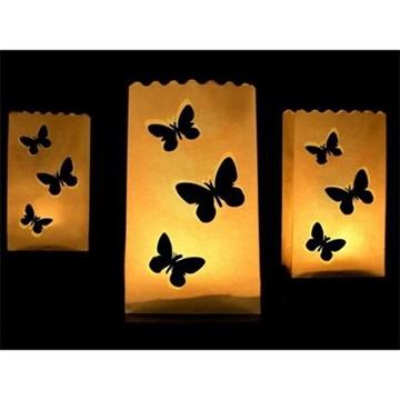 Obrázek Samostojné lampiony s motýlky 10 ks