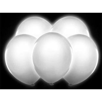 Obrázek Svítící balonky bílé - 5 ks