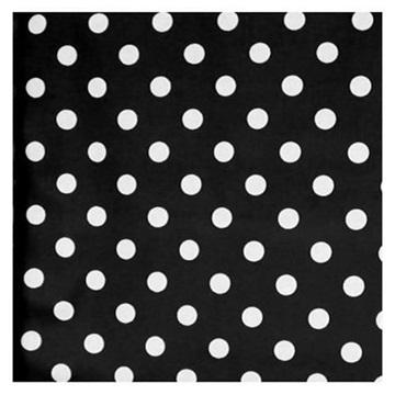 Obrázek Plastový party ubrus černé puntíky 128 x 181 cm