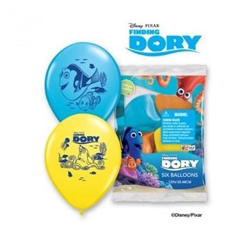 Obrázek Latexové balonky Hledá se Dory 6 ks