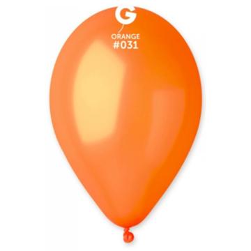 Obrázek Metalické balonky 28 cm - oranžové 100 ks