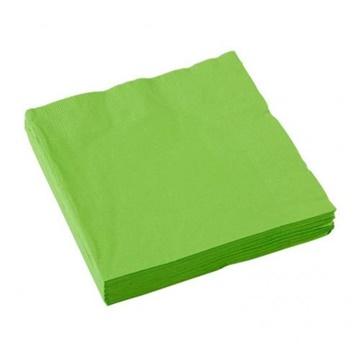 Obrázek Papírové party ubrousky světle zelené 20 ks
