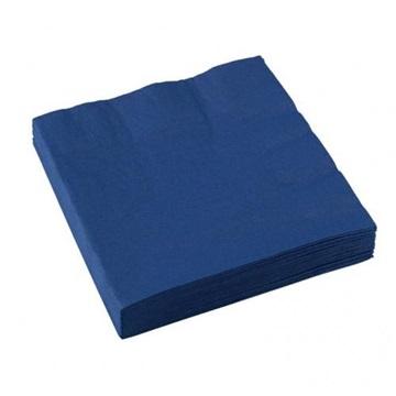Obrázek Papírové party ubrousky tmavě modré 20 ks