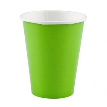Obrázek Papírové kelímky světle zelené 8 ks