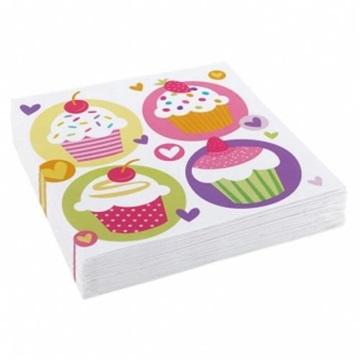 Obrázek Papírové party ubrousky Muffin 20 ks