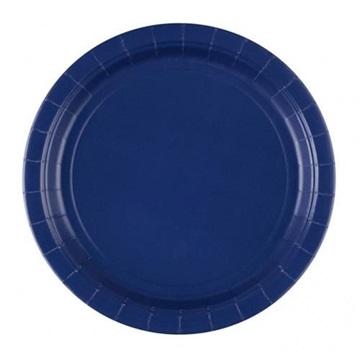 Obrázek Papírové talíře tmavě modré 23 cm - 8 ks