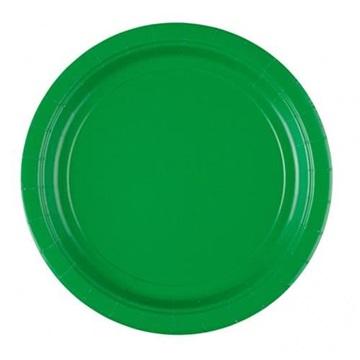 Obrázek Papírové talíře zelené 23 cm - 8 ks