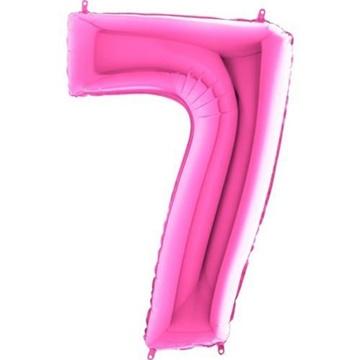Obrázek Foliová číslice - růžová 7