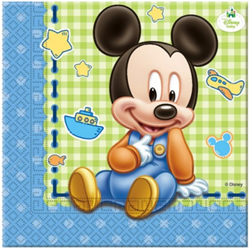 Obrázek Papírové party ubrousky Baby Mickey 20 ks