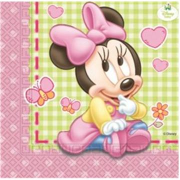 Obrázek Papírové party ubrousky Baby Minnie 20 ks