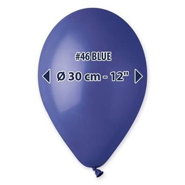 Obrázek Balonky 30 cm - tmavě modrá 100 ks