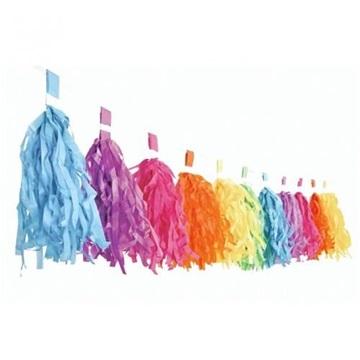Obrázek Girlanda se střapci duhová 3 m