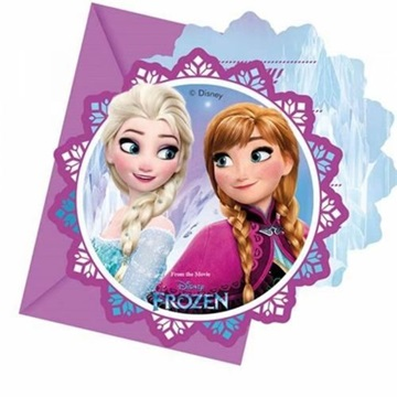 Obrázek Party pozvánka Frozen Severní záře 6 ks