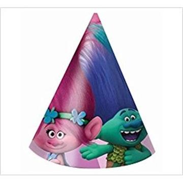 Obrázek Party papírové čepičky Trollové 6 ks