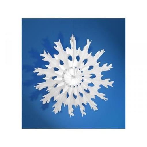 Obrázek z Dekorační rozeta Sněhová vločka 45 cm