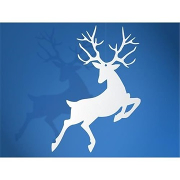 Obrázek Závěsná dekorace sob Rudolf 10 ks Bílá